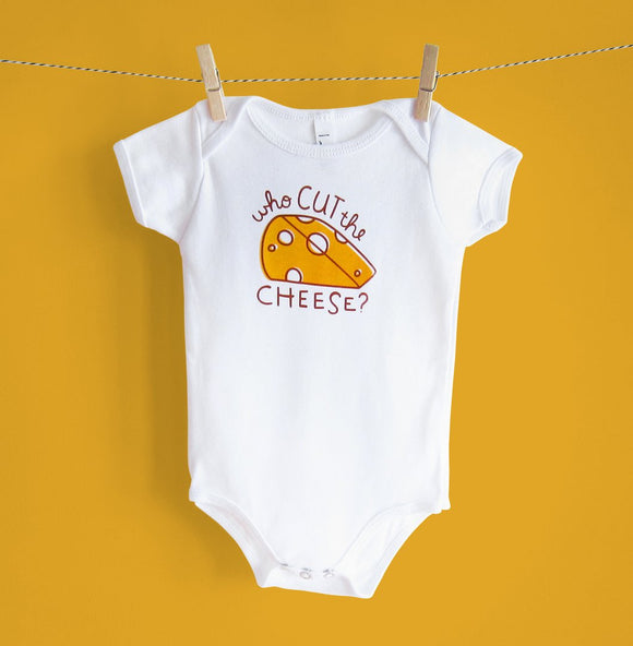 Who Cut The Cheese Onesie