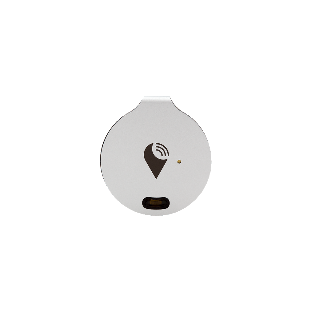 TrackR bravo - Bluetooth Item Finder - Silver Bluetooth tracking device that helps find your wallet, keys, and remotes. Save time, save money, and never lose valuable belongings you care about.