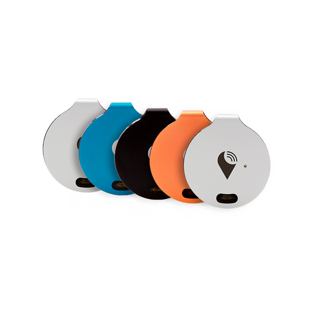 TrackR bravo 5-pack - Bluetooth Item Finders - Rainbow Colorful Bluetooth tracking device that helps find your bag, keys, and remotes. Save time and money, while adding color to fashionable items you care about.