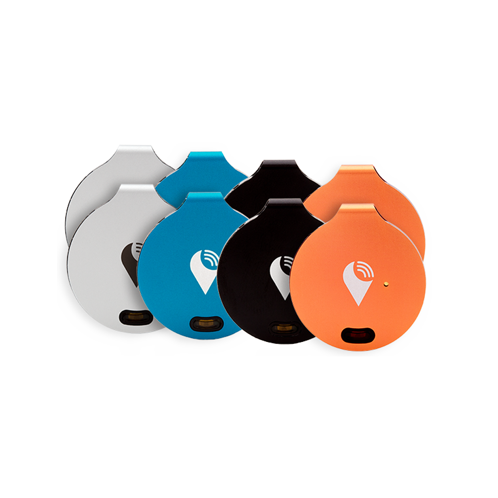 TrackR bravo 8-pack - Bluetooth Item Finders - Rainbow Colorful Bluetooth tracking device that helps find your bag, keys, and remotes. Save time and money, while adding color to fashionable items you care about.