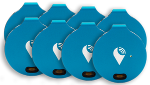 Blue TrackR bravo 8-pack