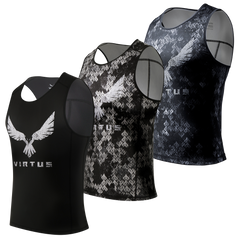 3-Pack Wood Athletic Tank