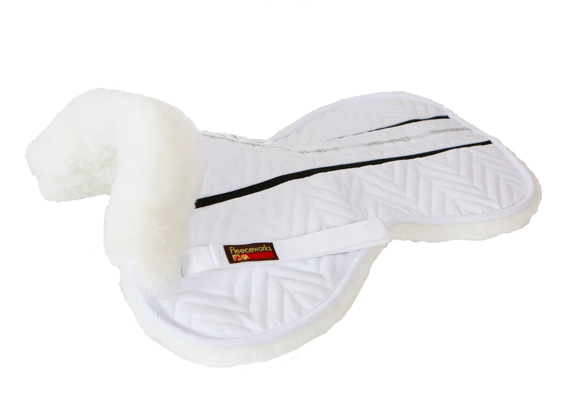 DEALS FXK Technology Sheepskin Halfpad with Plain Edge All Purpose Small White