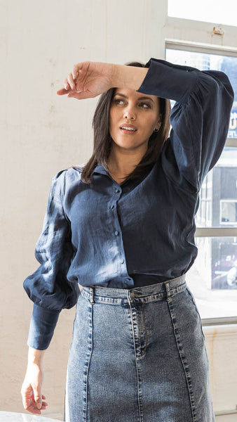 Thea Shirt Dress (Black)