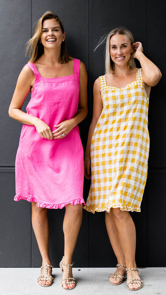 Laylin Dress (Yellow Check)