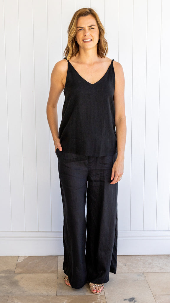 Liberty Linen Pants (Black)