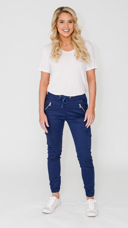 Cara Cargos (Dark Denim)
