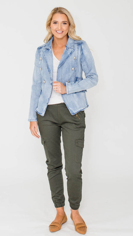 Odette Denim Jacket (Vintage Pink)