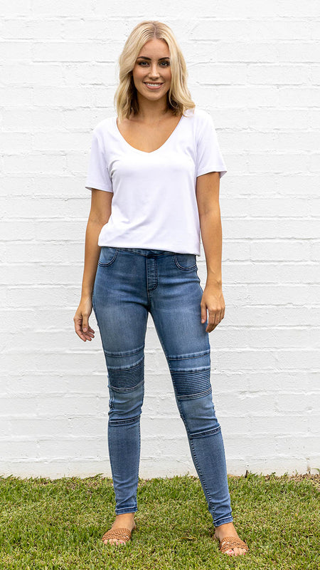 High Waisted Everyday Basic Jeans