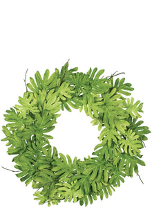 "26"" Philodendron Wreath, Tropical Wreath, Everyday wreath, Greenery wreath"