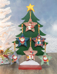 Country Star Orn 10336 - 6 assorted ornaments - Stand not included - DecoExchange