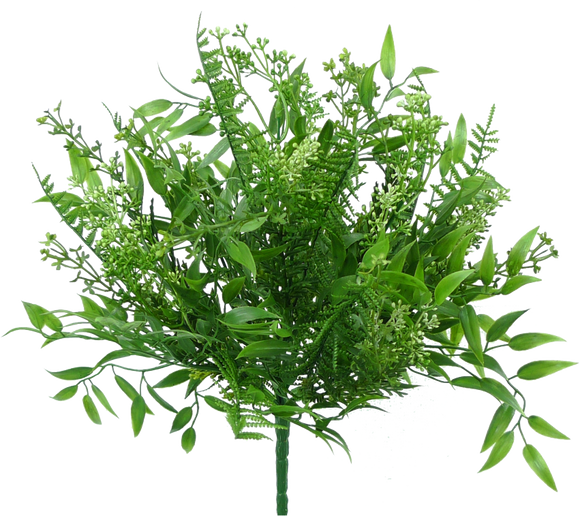 Plastic Mix Greenery Bush 13292BU9 - DecoExchange