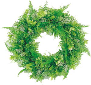 "24"" Mix Plastic Grass Wreath  13354WR24 - DecoExchange"