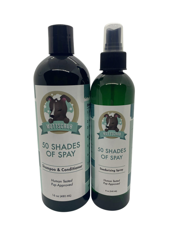 50 Shades of Spay Kit For Dogs - Shampoo and Deodorizing Spray - DecoExchange