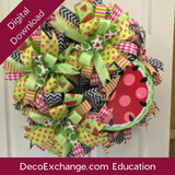 Three Bows & A Sign Deco Mesh Wreath Tutorial - DecoExchange