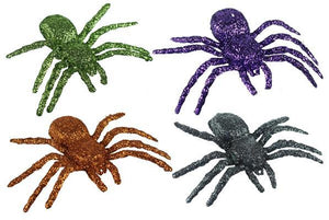 "4.75"" GLITTER SPIDERS, BAG OF 12 HH379899"