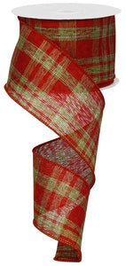 "2.5""X100FT PLAID/ROYAL RED/LIME/NATURAL RG03040LP"