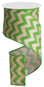 "4""X100FT WIDE CHEVRON/CROSS ROYAL BEIGE/LIME GREEN RG3026E9"