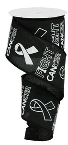 "2.5""X10YD FIGHT CANCER ON ROYAL Black/WHITE RGA141402"