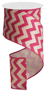 "4""X100FT WIDE CHEVRON/CROSS ROYAL BEIGE/FUCHSIA RG302607"