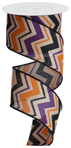 "2.5""X100FT MULTI CHEVRON/CROSS ROYAL PURPLE/ORANGE/BLACK RG3051C7"