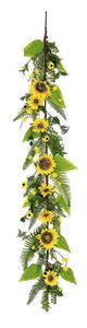 "Sunflower & Blossom Garland, 5'; 3.5""-4.5"" Blooms,  PM1658"