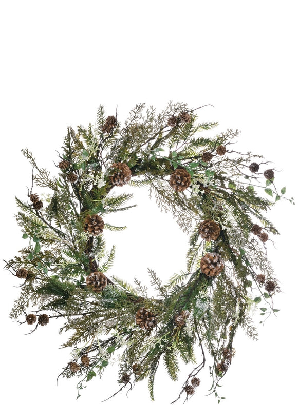 Pinecone Winter Wreath 30