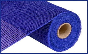 "10.25""X10Yd Deluxe Wide Foil Mesh Royal Blue W/Blue Foil RE134125 - DecoExchange"