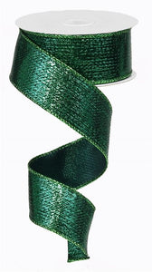 "1.5""X10yd Metallic Ribbon Emerald Green RG0139906 - DecoExchange"