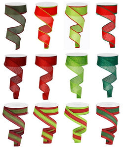 "1.5""X10YD LIME/RED/EMERALD ASST 12 ASST COLORS RW7959 - DecoExchange"