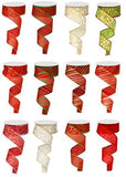 1.5 x 10 yd Glitter Ribbon Assortment 12 Roll Kit RX912399