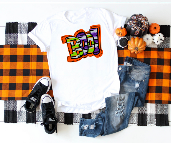 Boo Halloween Shirt Unisex Jersey Short Sleeve Tee - DecoExchange