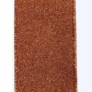 "2.5""X10Y Ribbon COPPER ALL FLAT GLITTER X820640-31 - DecoExchange"