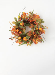 Autumn Berry Wreath with Acorns, Pine Cones and Fall Foliage | Autumn Rustic Door Wreath | FALL Wreath | Fall Decor - DecoExchange