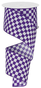 "2.5""X10YD MINI CHECK PURPLE/WHITE RG106896"