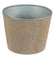 "5""DIA ROYAL BURLAP POT Natural KQ9899"