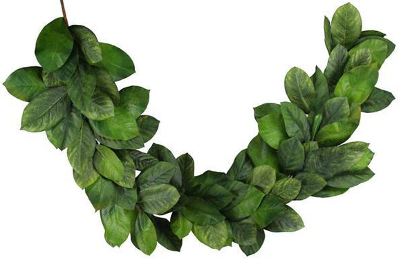 6'L Magnolia Leaf Garland (Thick) Multi Green NF2029