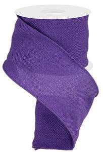 "4"" X 25Yd Faux Burlap Wired Purple RA206123"