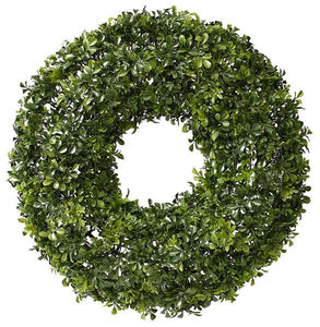 "23""Dia Boxwood Wreath Tt Green FR6460 - DecoExchange"