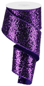 "2.5""X10YD LARGE GLITTER Purple RGA130123 - DecoExchange"