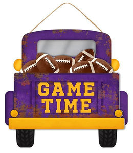 "12""L X 11.5""H Game Time Football Truck Tt Purple/Yellow/Brown AP8530"