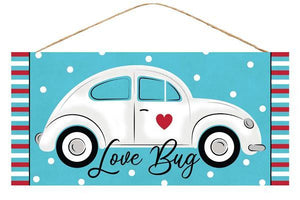 "12.5""L X 6""H Love Bug/Car Sign Blue/White/Black/Red AP875403 - DecoExchange"