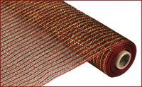 "21""X10yd Wide Foil Mesh Laser Red/Gold RE1042T5"