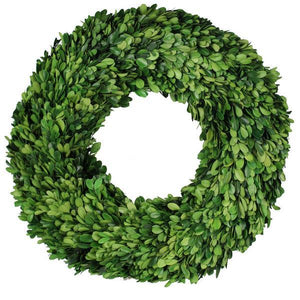 "18""Dia Boxwood Wreath Green TW2929 - DecoExchange"