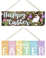 "15""L X 5""H HAPPY EASTER SIGN 2 Asst Styles AP805299 - DecoExchange"