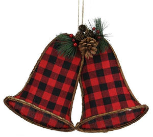 "17""W X 12""H Gingham/Euonymus Bell X 2 Red/Black XC429433"