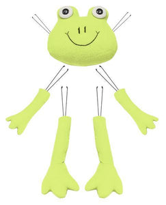 "5 Pc 16""H Frog Decor Kit Lime Green/Black/White MD0224"