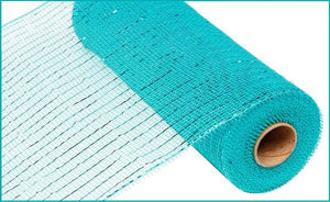 "10""X10YD METALLIC MESH Aqua / Turqoise Foil RE130158 - DecoExchange"