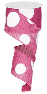 "2.5""X50YD GIANT MULTI DOTS HOT PINK/WHITE RG0520011"