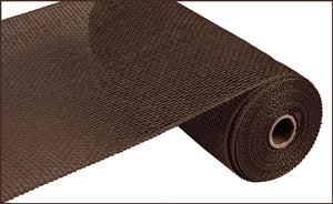 "10""X10Yd Poly Burlap Mesh Chocolate RP810031 - DecoExchange"